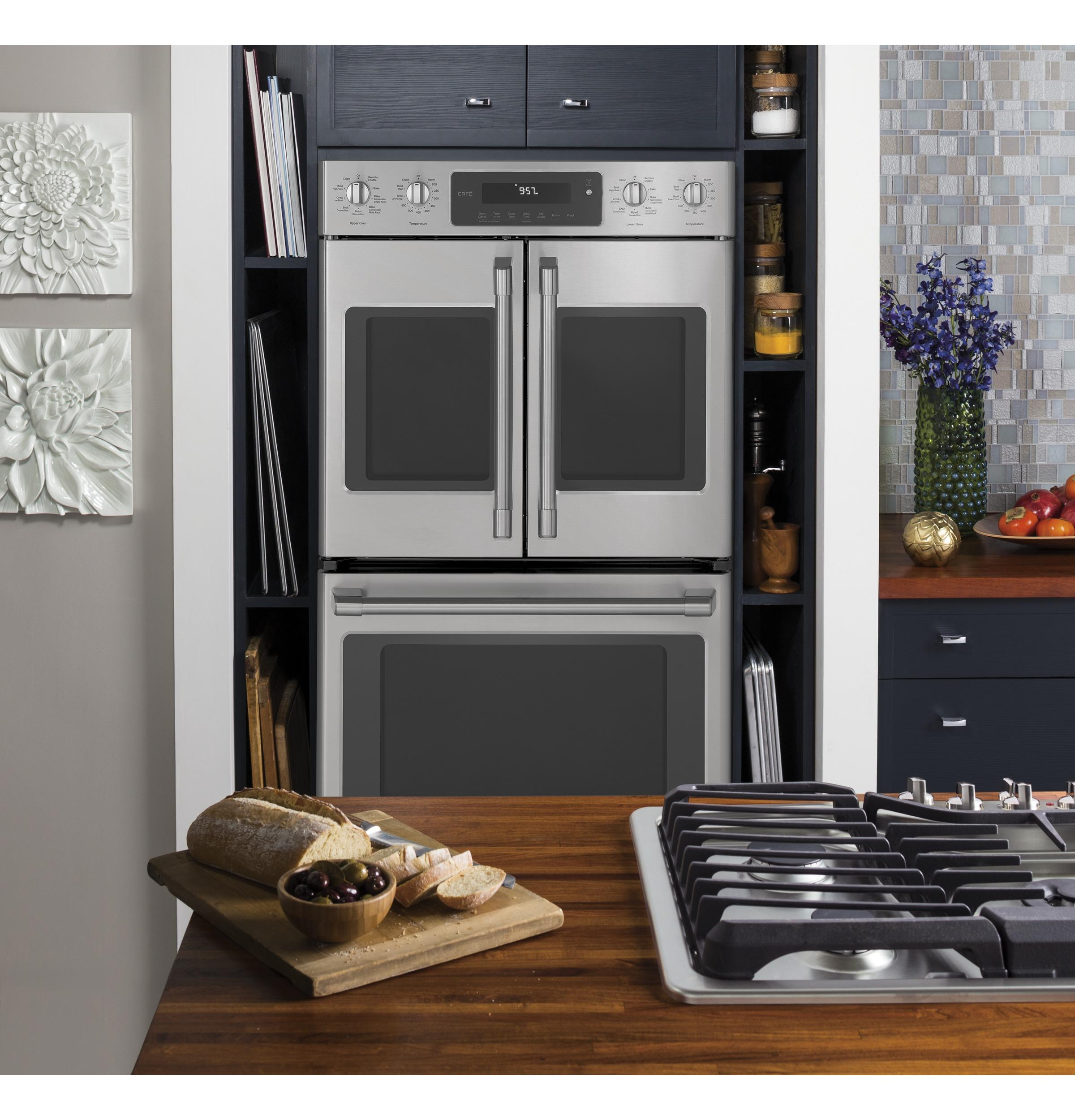 ge cafe wall oven double ge cafe series 30 ct9570slss in stainless steel by appliances scottsdale az