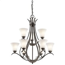 Keiran 9 Light Chandelier with LED Bulbs Olde Bronze®