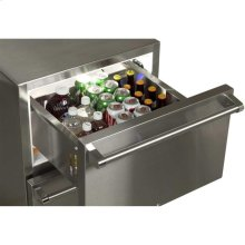 "24"" Outdoor Refrigerated Drawers with Lock - Marvel Refrigeration - Solid Stainless With Lock"