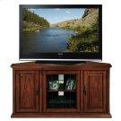 "Oak Leaded Glass Corner 46"" TV Console #80385 Product Image"