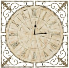 Kathleen Clock - Distressed Antique White