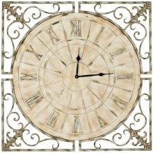 Kathleen Clock - Distressed Antique White