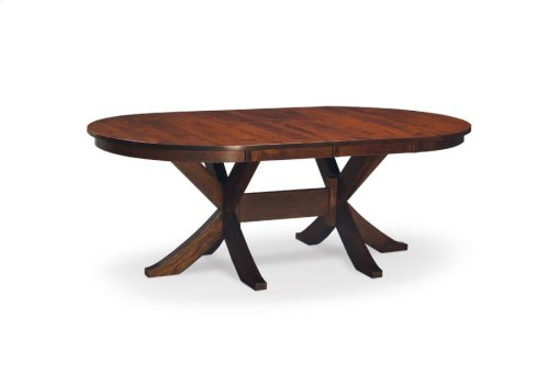 "Parkdale Double Pedestal Table, 48""x84"", 2-Leaves"