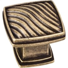 "1-3/16"" Waved Square Cabinet Knob."