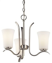 Armida 3 Light Mini Chandelier Brushed Nickel