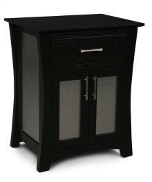 Loft Nightstand with Doors, Loft Nightstand with Doors