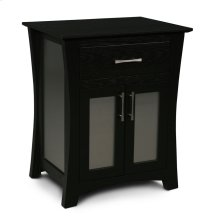 Loft Nightstand with Doors, Loft Nightstand with Doors