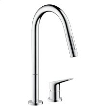 Chrome Citterio M 2-Hole Kitchen Faucet, Pull-Down, 1.75 GPM