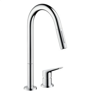 Chrome Citterio M 2-Hole Kitchen Faucet, Pull-Down Product Image