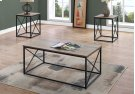 TABLE SET - 3PCS SET / DARK TAUPE / BLACK METAL Product Image