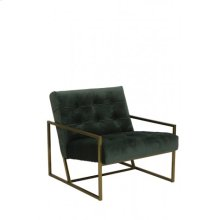 Chair 71x81x70 cm GENEVE velvet olive green+gold