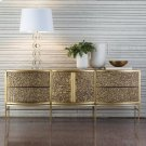 Crinkle Long Cabinet-Brass/Bronze Product Image