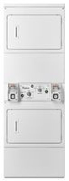 Whirlpool® Commercial Single Load, Super Capacity Stack Dryer