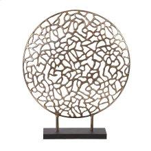 Bronze Aluminum Branch Disk Sculpture