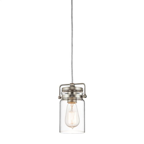 Brinley Collection Brinley 1 Light Mini Pendant NI