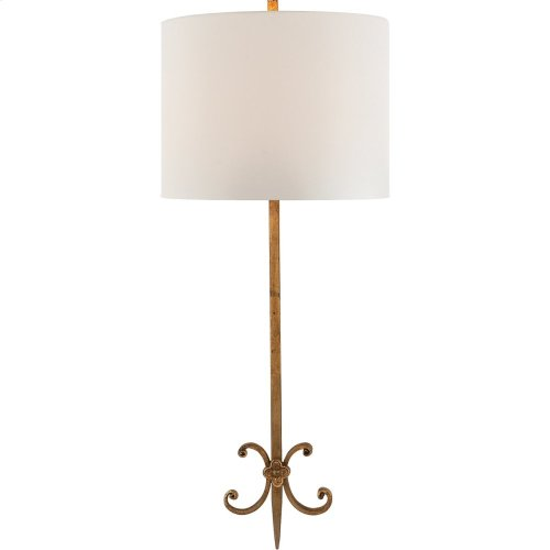 Visual Comfort SK2009GI-L Suzanne Kasler Roswell 2 Light 11 inch Gilded Iron Decorative Wall Light in Linen