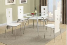 Modern Glass Table and 4 Chairs