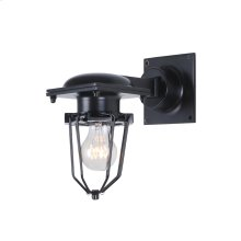 "1451 Kingston Collection Wall Lamp W:9"" H:9.5"" E:5"" Lt:1 Black Finish"