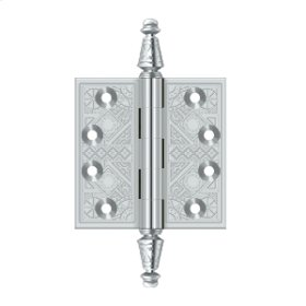 "3 1/2""x 3 1/2"" Square Hinges - Polished Chrome"