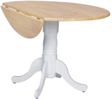 "42"" Complete Drop Leaf Table Natural & White"