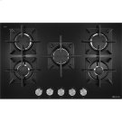 "Black Floating Glass 30"" 5-Burner Gas Cooktop Product Image"