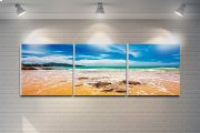 "3 Pieces Printed Art ""beach"" Composition Product Image"
