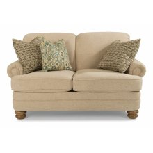 Bay Bridge Fabric Loveseat without Nailhead Trim