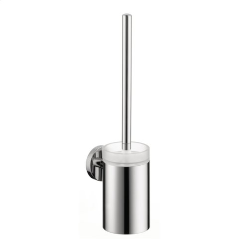 Chrome Toilet Brush with Holder