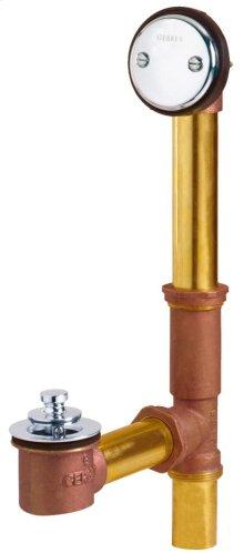 Chrome Gerber® Classics Brass Lift & Turn Drain
