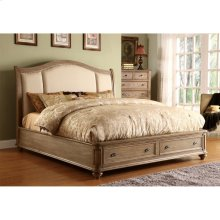 Coventry - Full/queen Sleigh Upholstered Headboard - Weathered Driftwood Finish