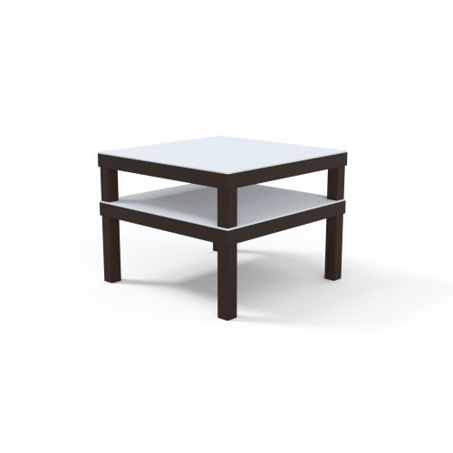 "Marine Grade Polymer Top Table 28.5"" x 28.5"" MGP Top Corner Table"