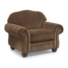 Bexley Two-Tone Fabric Chair with Nailhead Trim