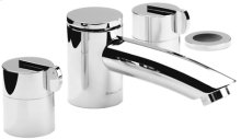 "Chrome Plate 4 Hole tub filler, 8"" spout length"