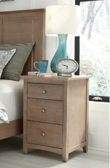 Lancaster 3-Drawer Nightstand Taupe Gray