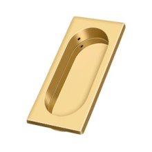 "Flush Pull, Large, 3-7/8"" x 1-5/8"" x 3/8"" - PVD Polished Brass"