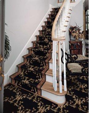Ashton House Ribbon Trellis A01r Black-b 36''