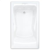Evolution 60x32 inch Deep Soak Massage Tub - White