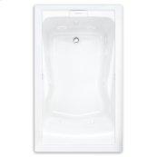 Evolution 60x32 inch Deep Soak Massage Tub - White