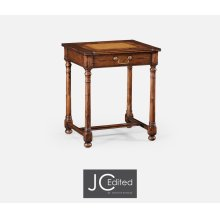 Country Walnut & Oyster Side Table