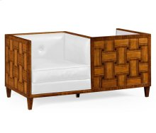 Cosmo Transitional Loveseat, Upholstered in COM