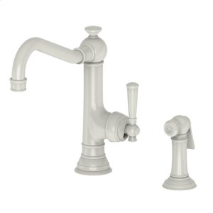 Biscuit Single Handle Kitchen Faucet with Side Spray