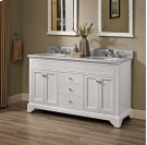 "Framingham 60"" Double Bowl Vanity - Polar White Product Image"