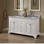 "FAIRMONT DESIGNSFramingham 60"" Double Bowl Vanity - Polar White"