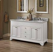 """Framingham 60"""" Double Bowl Vanity - Polar White Product Image"""