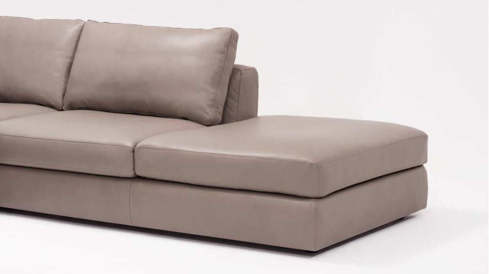 Hidden · Additional Cello 3 Piece Sectional Sofa With Backless Chaise    Leather