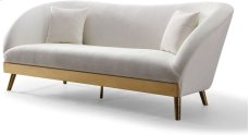 Chloe Cream Velvet Sofa Product Image