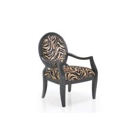 Paris Zebra Fabric Arm Chair