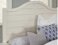Queen Shiplap Bed with available storage (Duskey White)