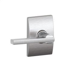 Latitude lever with Century trim Hall & Closet lock - Satin Chrome