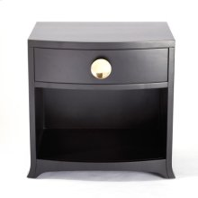 Bow Front 1-Drawer Chest-Ebony